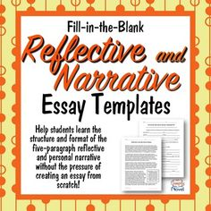 Essay Prompts And Essay Topics  Reflective Narrative  Future