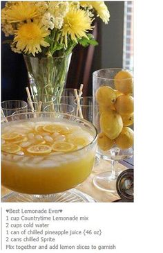pineapple sprite lemonade punch!!!