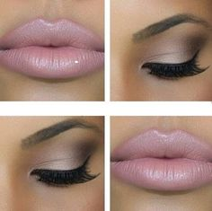 Gorgeous and simple- day to night makeup. Just add some glitter gloss at the end of the day. Beautiful!