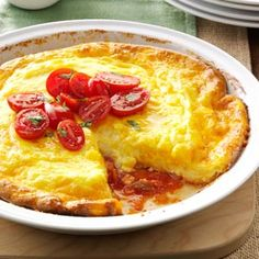 Picante Omelet Pie Recipe from Taste of Home -- shared by Phyllis Carlson of Gardner, Kansas