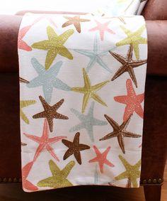 This Atlantis Starfish Micro Plush Throw is perfect! #zulilyfinds