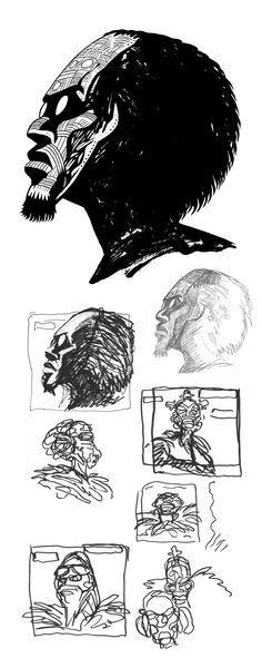 Art Melody 'Wogdog blues' graphic design process by www.brunocomix.fr
