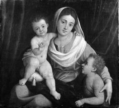 Caroto Giovanni Francesco - Madonna con Bambino e San Giovannino  - 1530-1540 - Accademia Carrara di Bergamo Pinacoteca