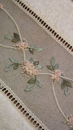 Enchanting Ribbon Embroidery Flowers by Hand Ideas Wonderful Ribbon Embroidery Flowers by Hand Ideas. Enchanting Ribbon Embroidery Flowers by Hand Ideas. Hand Embroidery Patterns Flowers, Hand Embroidery Videos, Embroidery Flowers Pattern, Flower Embroidery Designs, Hand Embroidery Stitches, Silk Ribbon Embroidery, Embroidery Techniques, Beaded Embroidery, Hardanger Embroidery