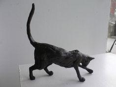 Bronze Playing Cat Paul Jenkins