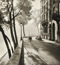 Vintage photography black and white street scape