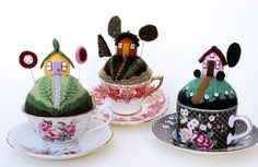 sweet little pincushion that are easily fashioned without patterns