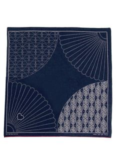 KAPITAL - bandanna Pocket Squares, Bandanas, Shashiko Embroidery, Bandana Design, Shibori Tie Dye, Japanese Textiles, Quilting, Silk Screen Printing, Japanese Design