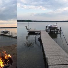 Slack line by moonlight with a bit of bon fire. #slackline #bonfire #summer #lakelife #lake #minnesota #minnesotalife