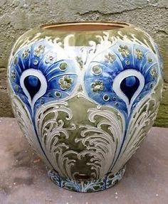 Art Nouveau Peacock   ... about Large Art Nouveau Moorcroft Macintrye Peacock…: