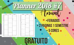 Planner 2018 completo para download, baixe e faça seu planner em casa