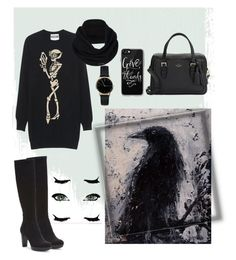 """""""#backinblack"""" by legozorg ❤ liked on Polyvore featuring Moschino, Donald J Pliner, Kate Spade, Casetify, Freedom To Exist and prAna"""