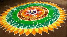 latest rangoli designs with dots for new year 2015 - Google Search