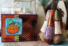 #Cre8time for a Halloween friendship card. #Stampendous #DWstencils