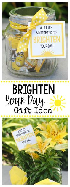 Cheer Up Gift Idea-A Little Something to Brighten Your Day for a Friend who needs cheering up. Cheer Up Gift Idea-A Little Something to Brighten Your Day for a Friend who needs cheering up. Teachers Day Gifts, Teacher Gifts, Gifts For Kids, Simple Gifts For Friends, Cheap Thank You Gifts For Coworkers, Homemade Gifts For Friends, Gifts For Family, Easy Gifts, Cool Gifts