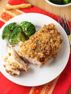 Pretzel crusted chicken breast