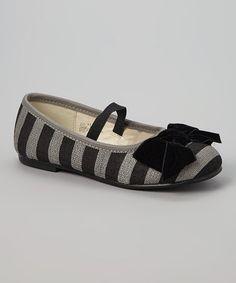Love this Black & Gray Stripe Flat on #zulily! #zulilyfinds