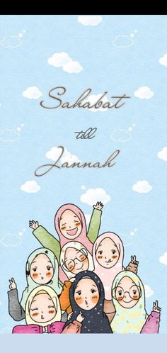 Wallpaper muslimah by Cartoon Wallpaper Iphone, Cute Wallpaper Backgrounds, Colorful Wallpaper, Cute Wallpapers, Cartoon Pics, Girl Cartoon, Character Drawing, Character Concept, Best Friends Aesthetic