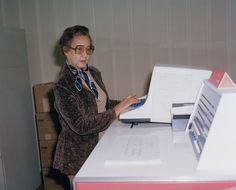 Image of Katherine Johnson at NASA Langley Research Center in 1980.