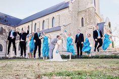 Lee University Wedding Party Jump!  Sandra Clukey Photography, Cleveland Tennessee