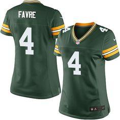 Nike Elite Brett Favre Green Women's Jersey - Green Bay Packers #4 NFL Home