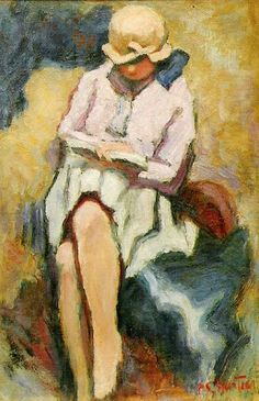 woman reading by Pierre Chartier Girl Reading Book, Reading Art, Woman Reading, Reading Books, Figure Painting, Painting & Drawing, Books To Read For Women, Harlem Renaissance, Love Art