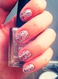 Baby Pink; Sparkling; Nail Art