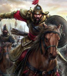 Hulegu Khan leading the charge of the Mongols