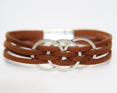 Womens Leather Bracelet Womens Bracelet Womens Gift for her Womens Jewelry…