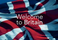 Welcome sign to the United Kingdom, as it appears at London Heathrow Airport.