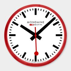 1000 images about watches clocks on pinterest swiss railways wall clocks and clock - Swiss railway wall clock ...