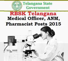 RBSK Telangana Medical Officer,ANM, Pharmacist Posts 2015 | TeachersBadi TS DEECET 2015 Results