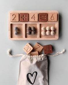 PRE-ORDER: Wooden Math Board (ships in approximately one week) Gives 10 meals – natural playground ideas Montessori Activities, Infant Activities, Activities For Kids, Diy For Kids, Crafts For Kids, Learning Toys, Wood Toys, Diy Toys, Kids Playing