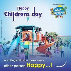 A smiling child can make every other person happy! This Children's Day, celebrate at MM FunCity with the little ones and give them a reason to smile.  Happy Children's Day #MMFUNCITY