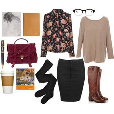 """Art History Grad Student"" by the59thstreetbridge on Polyvore #thanksgivingtrip"