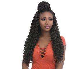 """This beautiful top knot style was created with our Faux Locs Curly 18"""" mutli-packs. Each strand is pre-looped for quick and easy installation.⠀ ⠀ ⠀ ⠀ ⠀ ⠀ ⠀ ⠀ #sensationnel #thehairyoulovetowear #teamsensationnel #qualityhair #africancollection #goodhairday #myhaircrush #luvyourmane #hairinspiration #hairinspo #goodhairday #hairgoals #instahair #hotd #fauxlocs #curlyfauxlocs #topknot #topknotbun #crochetbraids #preloop"""