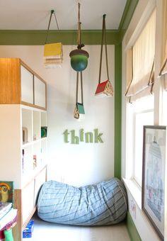 angolo per lettura cameretta bambini