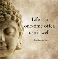 Life is a one-time offer, use it well