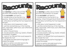 Classroom Treasures: Recount Writing