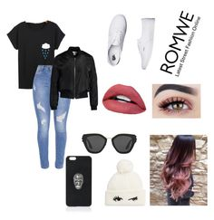 """""""ROMWE"""" by reneealexis ❤ liked on Polyvore featuring Sans Souci, Vans, Prada, Philipp Plein and Kate Spade"""