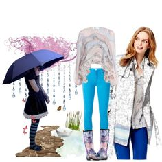 SPRING SHOWER US WITH STYLE by diaparsons on Polyvore featuring Zimmermann, Tommy Hilfiger, 7 For All Mankind and Kamik