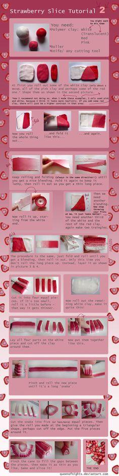 Strawberry Slice Tutorial -2- by ~QueEnOfNights on deviantART