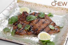 Michael Symon's Grilled Korean Style Strip Steak #TheChew