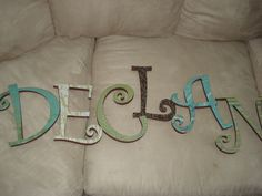For my lil' man...Wooden blocks from Hobby Lobby, painted sides and modge podge paper.... ;)
