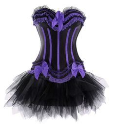 this is a goth lingerie corset and tutu