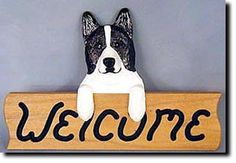 Akita - Dog Breed Welcome Sign - Our unique selection of hand painted natural oak Dog Breed Welcome Signs are sure to please the most discriminating Dog Lover! Be the envy of everyone with this unique...
