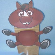 Horse Paper Bag Puppet - Fun Family Crafts