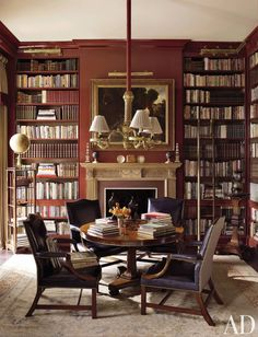 Traditional Office/Library by Richard Keith Langham, Inc. and Lewis Graeber III & Associates in Hattiesburg, Mississippi