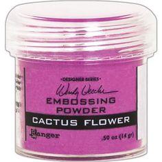 Ranger - Wendy Vecchi Embossing Powder .63oz - Cactus Flower