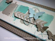 stampin up gutscheinkarte envelope punch board umschlag happy watercolor butterflies schmetterlinge